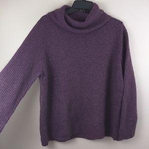 Linden Hill warm purple turtle neck sweater XL